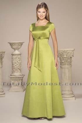 Halee Totally Modest WEDDING dresses, PROM & Bridesmaid dresses w/ sleeves