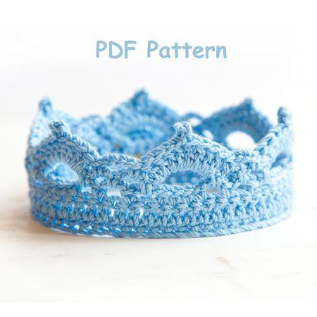 Crochet Pattern Princess or Prince Crochet Crown Newborn Pattern