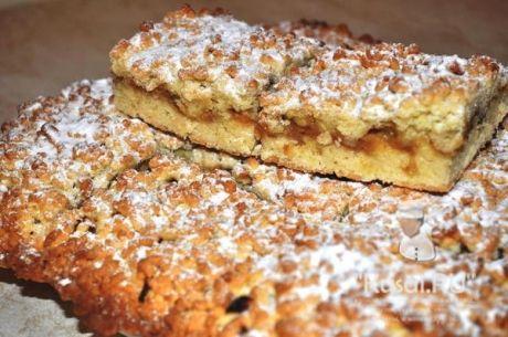 Тертый пирог с яблоками - рецепт с фото.
