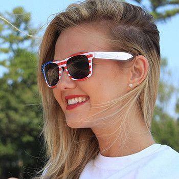 American Flag Patriotic UV Sunglasses