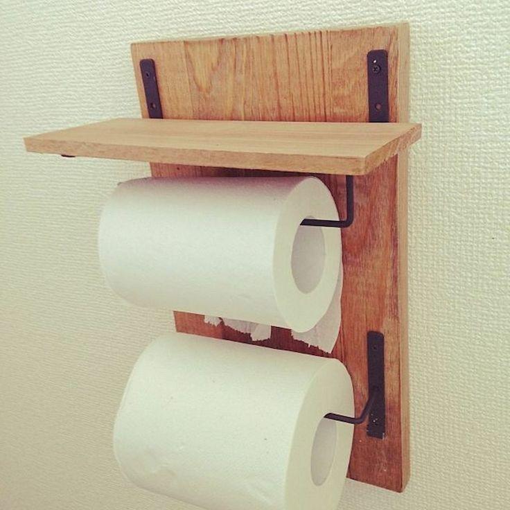 45 Diy Toilet Paper Holder And Storage Ideas 100均 Diy トイレットペーパーホルダー トイレットペーパー