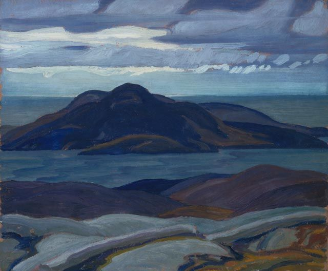 """Port Coldwell (IV),"" Frank Carmichael, 1928, oil on beaverboard, 10 x 12"", National Gallery of Canada."