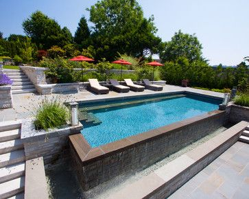 ALKA POOL - Not just functional this HydraLux Automatic cover adds a sleek  design element to this modern pool lounge.