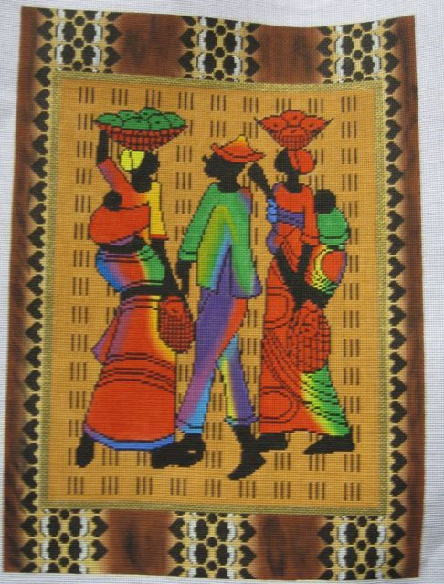 African Needlepoint Canvas Just Beautiful And Look At