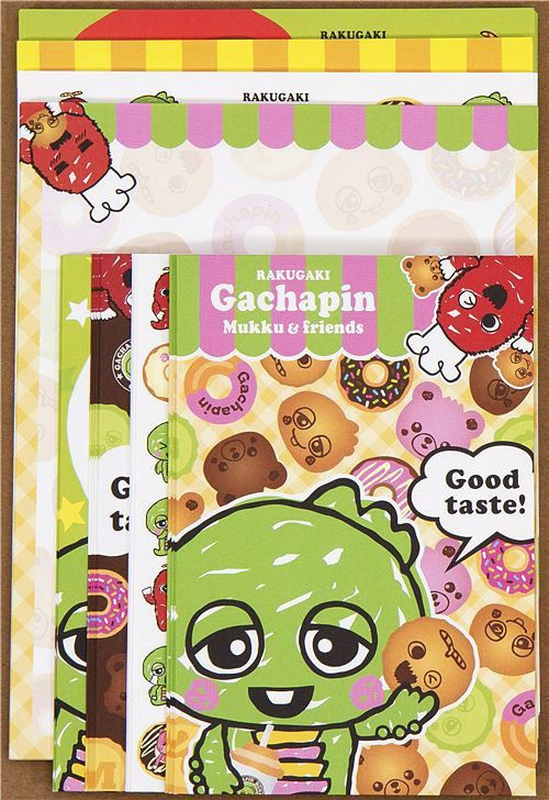 funny green monster Letter Set donuts Gachapin 4