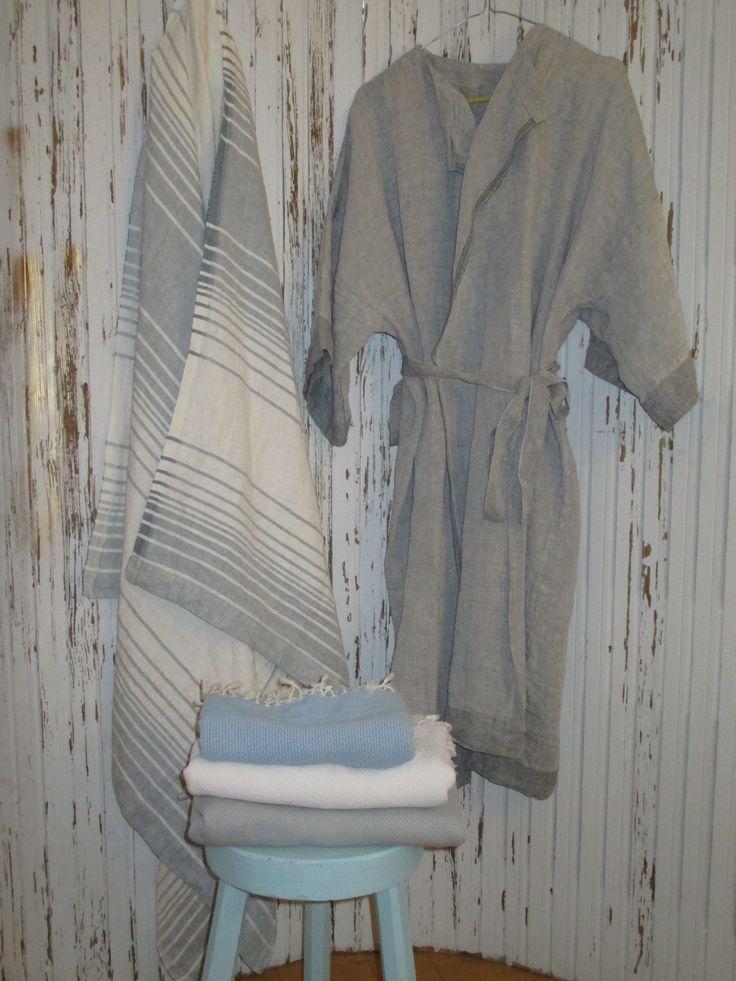 Nach der Sauna möchte man sich  in schöne Textilien hüllen... Saunatücher aus Leinen von Lapuan Kankurit,Finnland