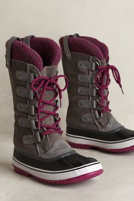 Sorel Joan of Arctic Knit Boot Brown Shoes #anthrofave #anthropologie