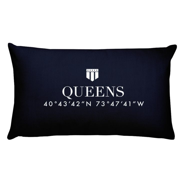 Queens NYC Pillow with Coordinates