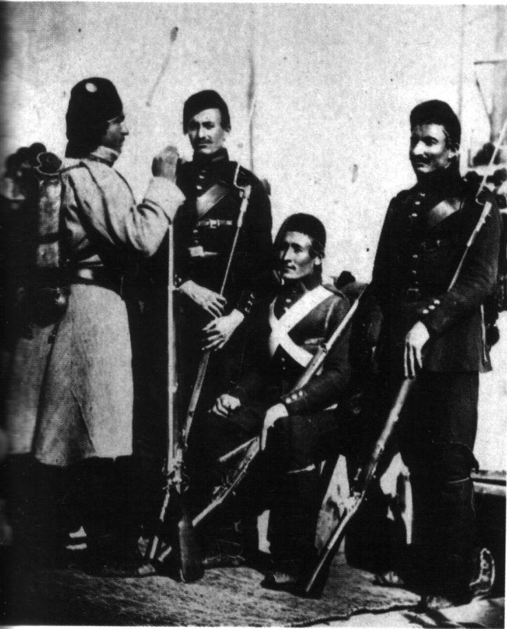 Turkish soldiers, Crimean War.