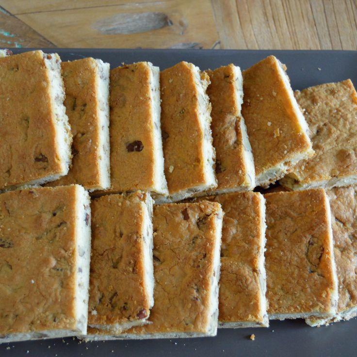 Blondies bakken witte chocolade brownies pecannoten