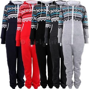 Mens Boys Aztec Onesie Sleeping Pyjamas Adult Unisex Jumpsuit Fleece Hooded | eBay