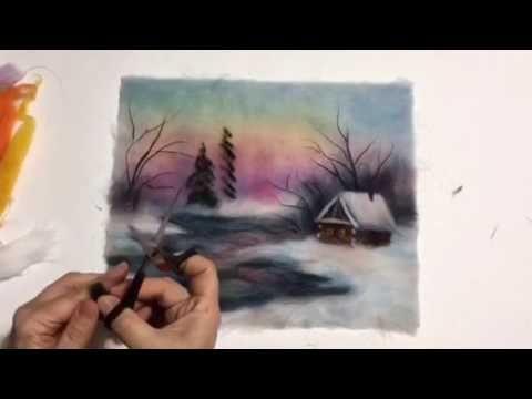 В этом видео я показываю вам, как создать из шерсти зимний сказочный пейзаж с домиком. А если вы хотите лично поучавствовать в процессе создания картин, то м...