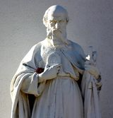 A statue of St. Jude Thaddeus from a church near Hondo, New Mexico.