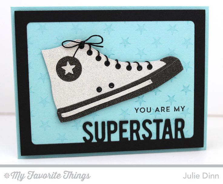 Be Original, Star Background, All-Star High Top Die-namics, Rectangle Frames Die-namics, Stacking Stars Die-namics, Superstar Photo Card Frame Die-namics - Julie DInn #mftstamps