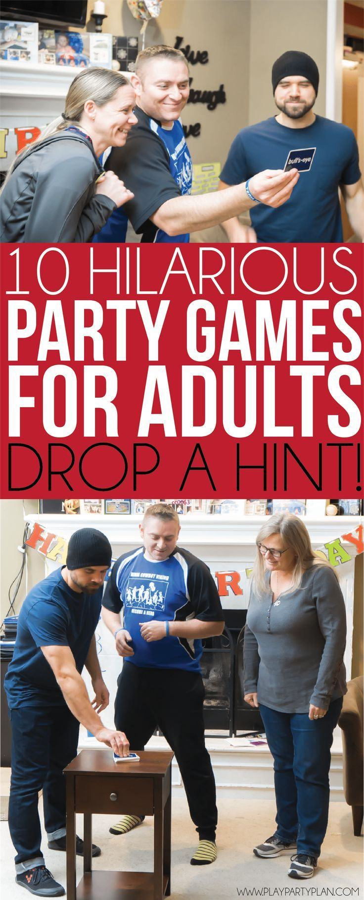 adults to play party games