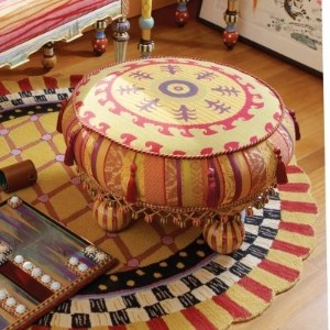 Peachtown Hassock ~ Tuffet by Mackenzie-Childs