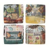 Found it at Wayfair Australia - Kelly Rae Roberts Inspirational Stoneware Square Plate (Set of 4)
