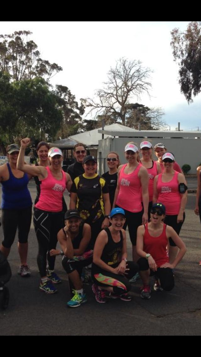 'Inner west Mums on the run!!' Smashing out a Sunday morning run!! In my Skins of course!!  #safteyinnumbers #noonecanmesswithus