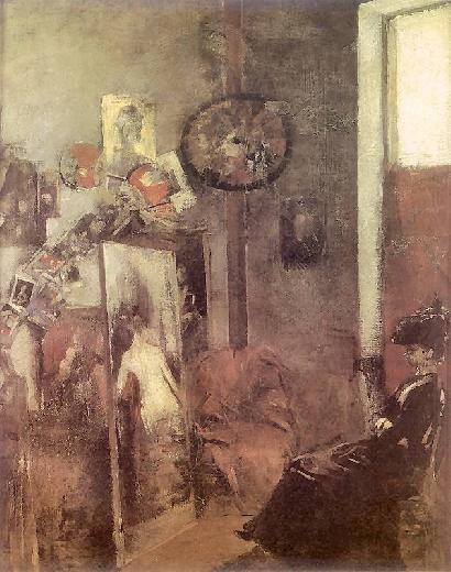 Olga Boznańska / W pracowni / oil on canvas / po 1890 / Muzeum  Lubelskie Lublin