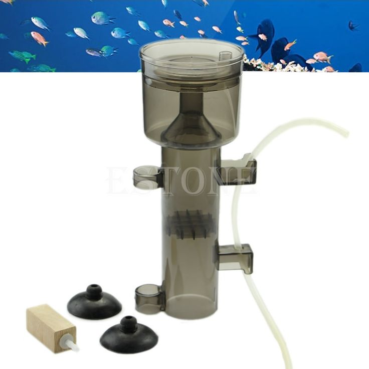 Aquarium Protein Skimmer Fish Tank Collector Waste Filter Wood Tool New #Affiliate