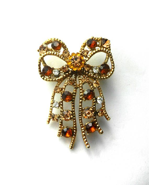 Adorably bright and elegant large Bow shaped Brooch  airy
