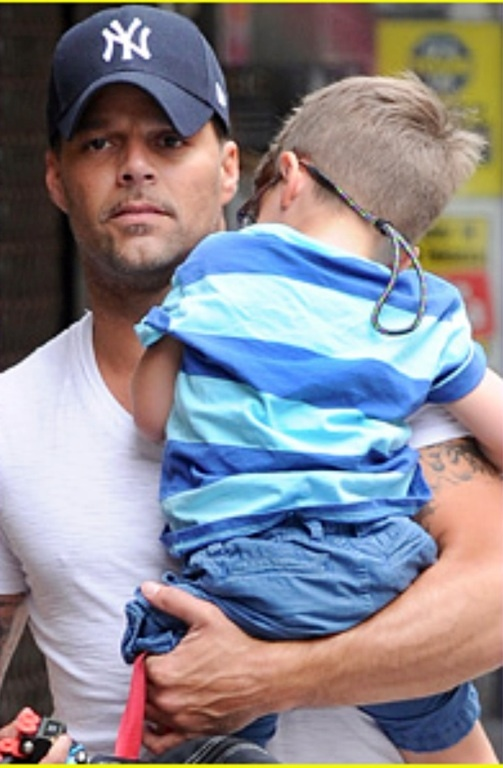 from Brice ricky martin gay father