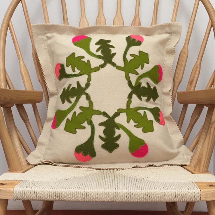 Spring has sprung! Pure wool applique and embroidery diy kit @ birdiebrown.co.nz #embroidery #applique