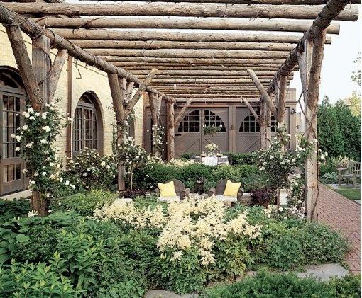 garden design by carolyn mullet rustic but oh so sophisticated pergola and terrace designed by