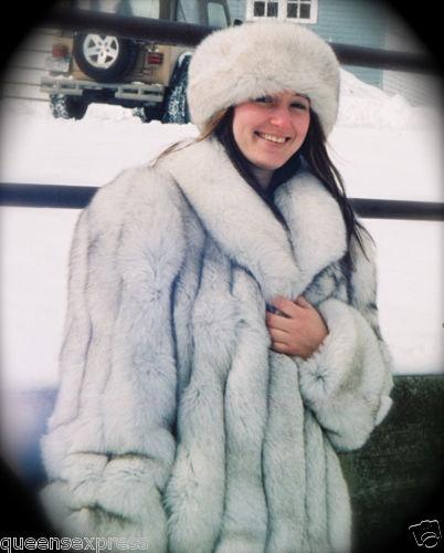 blue fox fur coat   hat  6b659fcbe55
