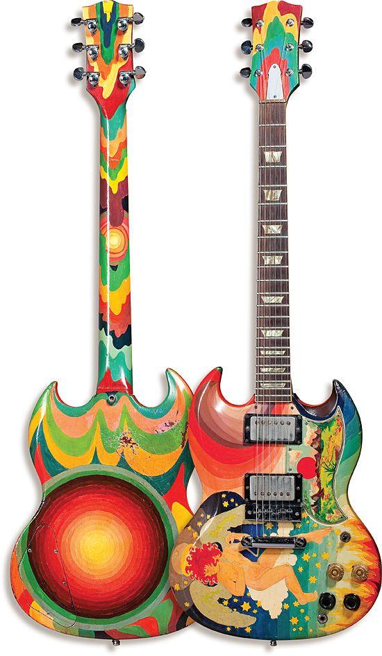 Clapton's Fool: custom painted Gibson SG guitar for Eric Clapton by Simon Posthuma and Marijke Koger, 1967
