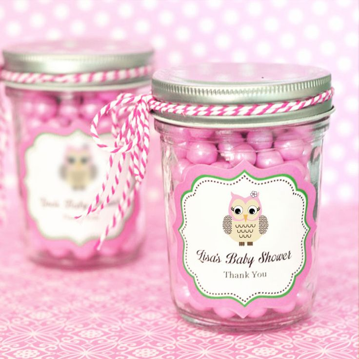owl baby shower favors from hotrefcom pink owl mini mason jars