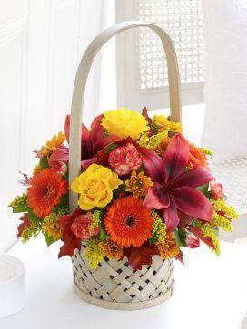 AUTUMN BASKET OF FLOWERS   Autumn Basket