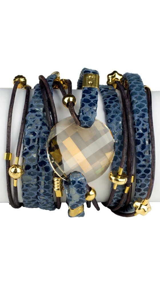 by Sara Designs  Swarovski Crystal Wrap Bracelet - Navy  ( $58.00 )