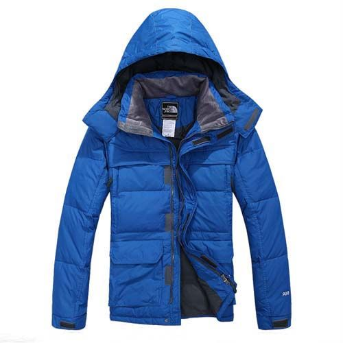 Mens The North Face 900 Down Jacket Blue