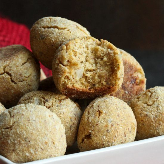 Baked OilFree Hush puppies that are also dairyfree and
