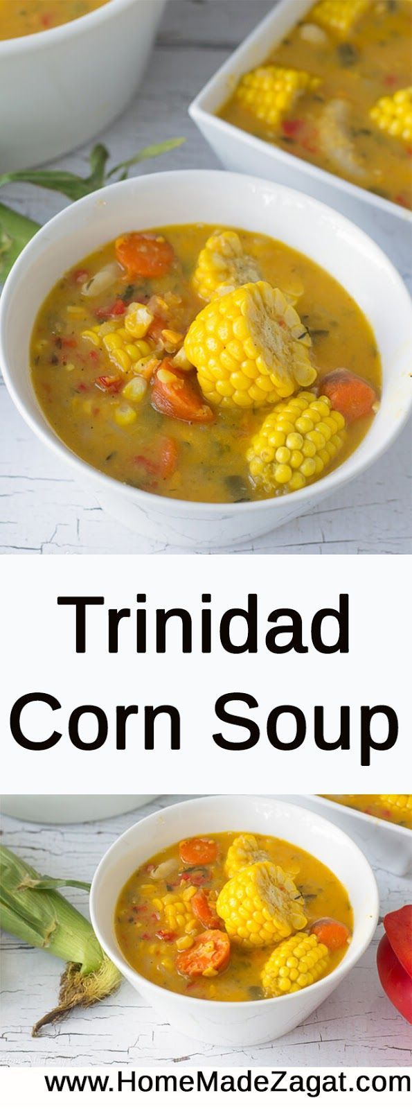 A traditional corn soup recipe for this popular Trini street food. Made with split peas, corn and dumplings this soup is commonly an after fete snack especially around carnival time