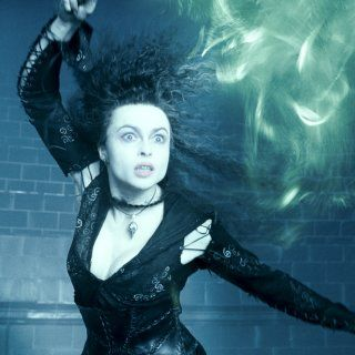Bellatrix Lestrange casts a spell in the Ministry of Magic.
