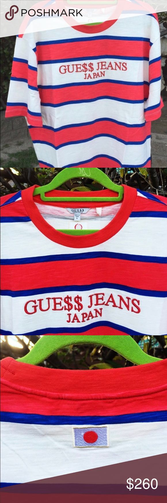 Guess x ASAP collab. Japan exclusive. ASAP Rocky x Guess Japan exclusive , Brand new, Open to offers and trades Guess Shirts Tees - Short Sleeve