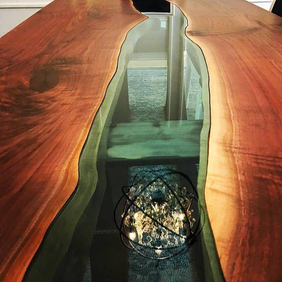 Rand Zwarte Notelaar rivier tabel met halve maan basis