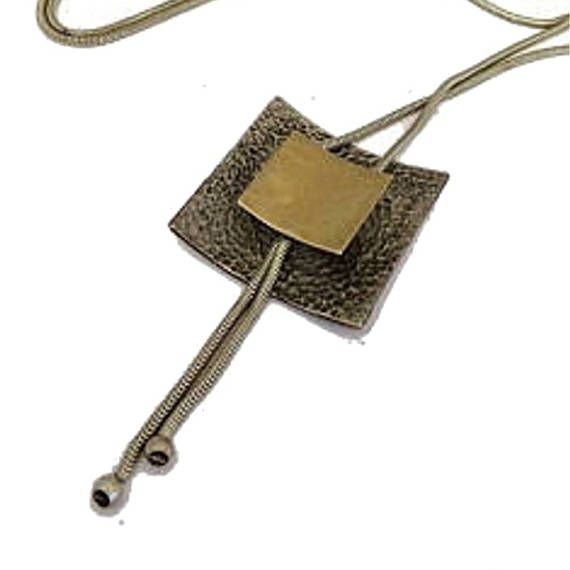 Silver gold pendant necklace. Silver necklace for women.