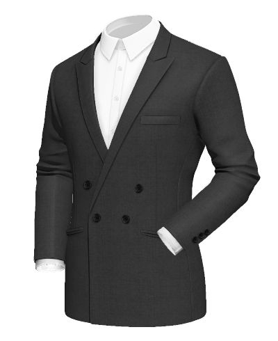 Grey double breasted Merino wool Blazer - http://www.tailor4less.com/en-us/men/blazers/2415-grey-double-breasted-merino-wool-blazer
