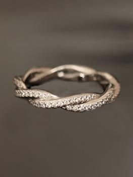 platinum double twist eternity band... soooo beautiful - Click image to find more Weddings Pinterest pins