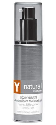 Y Natural Organic skincare - 502 HYDRATE Antioxidant Moisturiser - 45ml