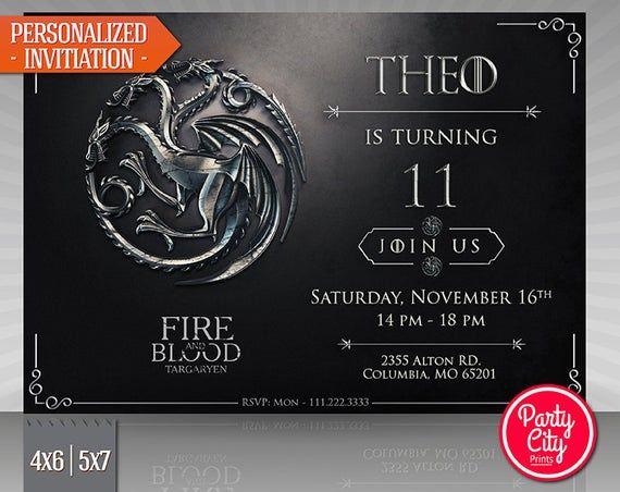 31 Beautiful Game Of Thrones Birthday Invitation Template Photos Game Of Thrones Birthday Birthday Invitation Templates Game Of Thrones Party