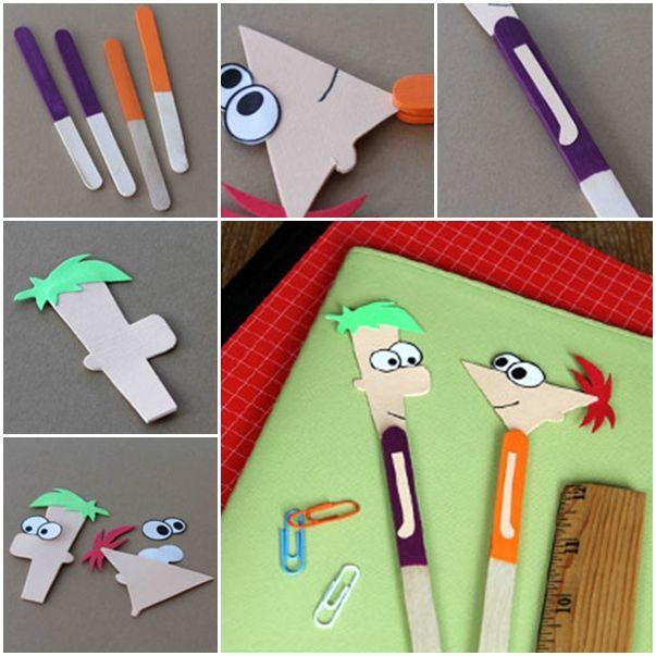 kolay ve eğlenceli dondurma çubuklarından kitap ayracı yapımı resimli anlatımı - Kadın Moda