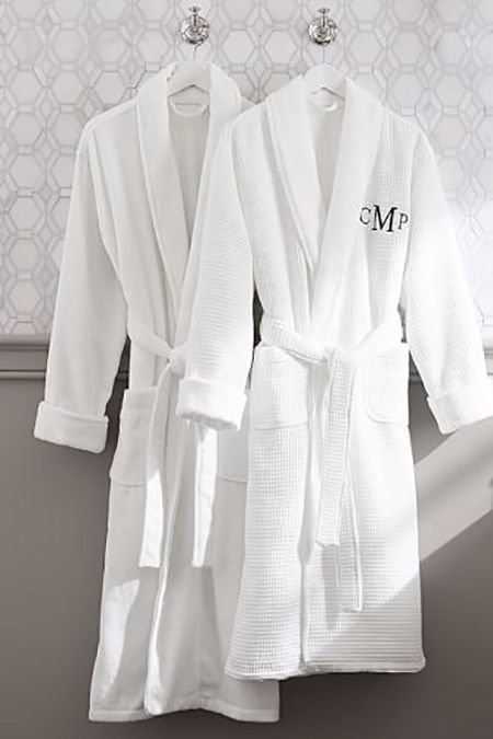 Classic Terry Robe - $95 - Is there anything more relaxing than padding around on a Sunday morning in a crisp white robe? Ensure your gift's recipient never has to share by slapping her initial right on the front of this Pottery Barn option. See more perfect personalized gifts at GoodHousekeeping.com.
