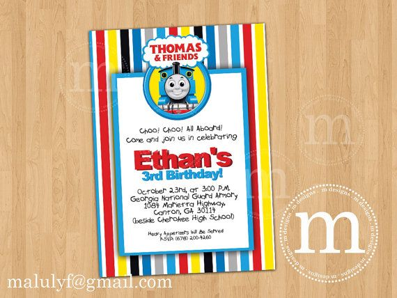 Train Party Invitations Templates