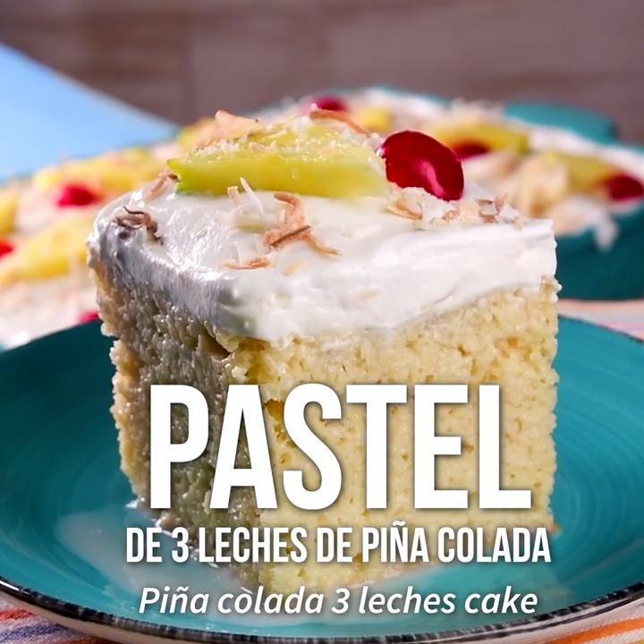 Video de 3 pastel de leche de piña colada   – Videos de recetas