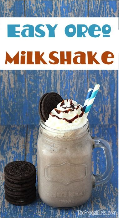 Oreo Heaven is a real place and this Easy Oreo Milkshake Recipe is the perfect way to find it! What better way to cool off on a hot day?