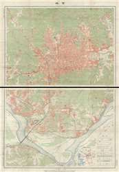 Rare Map for Sale: 1916 Taisho 5 Large Scale 2 Sheet Map of Seoul, South Korea at Geographicus Rare Antique Maps
